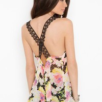 Laced Floral Tank in Clothes Tops at Nasty Gal