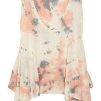 TEXTILE Elizabeth and James | Zuma tie-dye cotton-blend jersey tank | NET-A-PORTER.COM