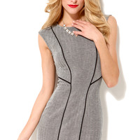 Herringbone Knit Bodycon Dress