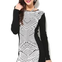 Glamorous L/S Panel Bodycon Dress