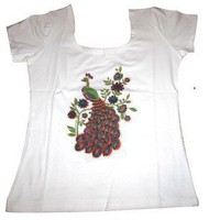 Sequins Peacock T-shirt