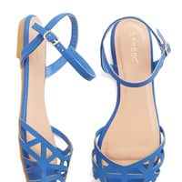 ModCloth Favorite Delicatessen Sandal in Cornflower Blue