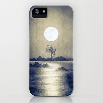 When the moon speaks (part III) colour option iPhone & iPod Case by Viviana González
