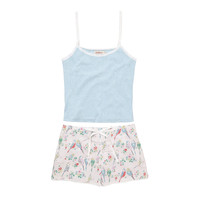 Nightwear & Slippers | Budgies Vest & Shorts Set | CathKidston