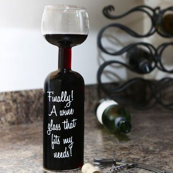 Wine Bottle Glass Holds An Entire From Always Fits