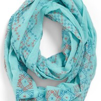 Lulu Stitch Detail Infinity Scarf (Juniors)