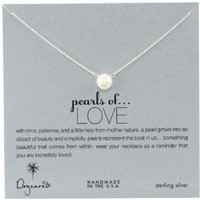 "Dogeared ""Pearls of . . . Love"" Sterling Silver Large Pearl Necklace, 18"""
