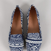 Bamboo Rosalba-09 Tribal Round Toe Loafer Flat