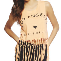 Los Angeles Braided Fringe Tank | Wet Seal