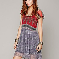 Free People Flaming Hearts Mini Dress
