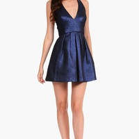 Phoebe by Kay Unger Illusion Back Jacquard Fit & Flare Dress | Nordstrom