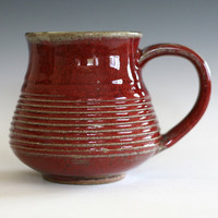 RED Coffee Mug,16 oz, handmade ceramic cup, ceramic stoneware mug, coffee cup