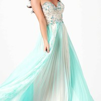 Strapless Two Toned Mac Duggal Prom Dress