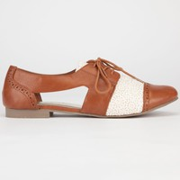 Madden Girl Teaton Womens Flats Cognac  In Sizes