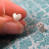 tiny love studs by truche on Etsy