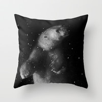 Polar Bear Dream Throw Pillow by RichCaspian
