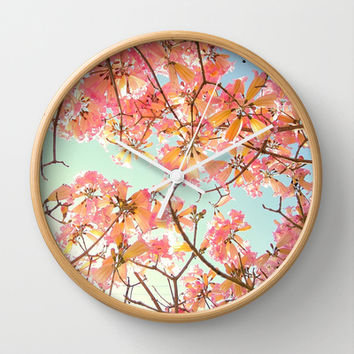 Spring Splendor Wall Clock by RichCaspian