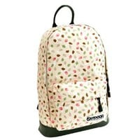 Mixed Color Printed Owl Leaf Shoulder School Travel Bag Backpack