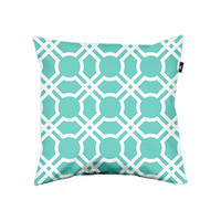 Moroccan Lattice in Cyan - Details - Envelop