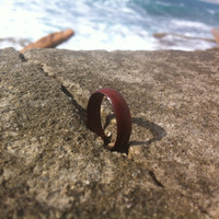 Carved wooden ring \\ redwood ring \\ men \\ women \\ wood ring \\ jewelry \\ red wood