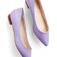 Follow the Arrow Flat in Lavender | Mod Retro Vintage Flats | ModCloth.com
