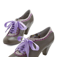 Poetic License Vintage Inspired Model Home Heel in Grey