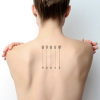 Dart Arrows Temporary Tattoo Set