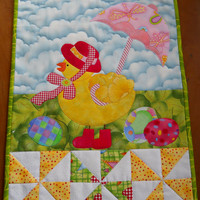 Easter Wallhanging, Easter Quilt, Patchwork Wallhanging, Spring Decoration