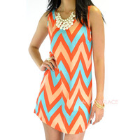 Ventura Chevron Tank Dress