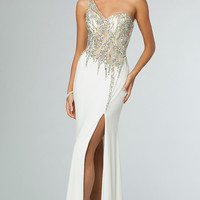 Long One Shoulder Prom Dress by JVN by Jovani