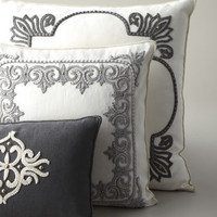 Ankasa - Ivory &amp; Gray Pillows - Horchow