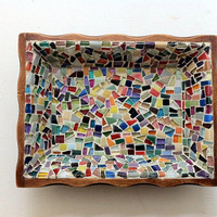 Mosaic Desk Organizer by GreenStreetMosaics on Etsy