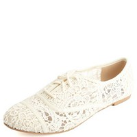 CAP-TOE EMBROIDERED LACE OXFORDS