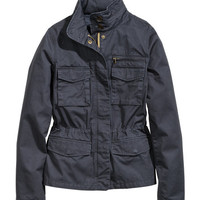 H&M - Cargo Jacket - Dark blue - Ladies