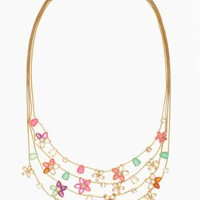 GIVERNY FLORAL multi strand necklace - kate spade new york