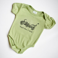 Cruiser Bike and Chariot Organic Unisex Baby Sage by GrowingUpWild