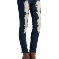 distressed jeans $36.80 in DKBLUE - Jeans | GoJane.com