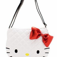 hello kitty quilted face shoulder bag $59.80 in WHITERED - Hello Kitty | GoJane.com