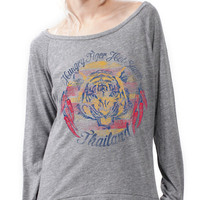 Hungry Tiger Hot Sauce - Women's Slouchy Pullover