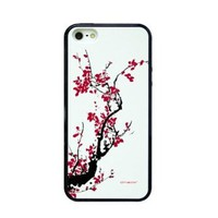 Plum Blossom Print Phone Shell Case for Iphone5/5s