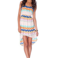 Zigster Tank Dress in Multi :: tobi