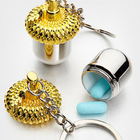 Nut Case Keychain | Keychain Pill Case | fredflare.com