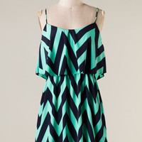 Wave Dancer Dress - Mint and Navy - Hazel & Olive