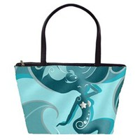 Blue Mermaid Large Shoulder Bag