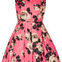 BARDOT FLORAL PROM DRESS