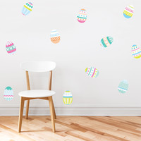 Easter Eggs Printed Wall Decals