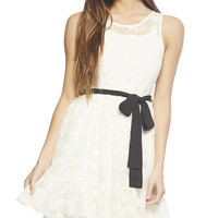 Lace Flounce Dress | Wet Seal