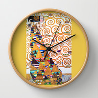 Love & Expectation - Gustav Klimt Wall Clock by BeautifulHomes