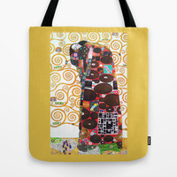 Love & Fulfillment - Gustav Klimt Tote Bag by BeautifulHomes