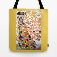 Love & Expectation - Gustav Klimt Tote Bag by BeautifulHomes